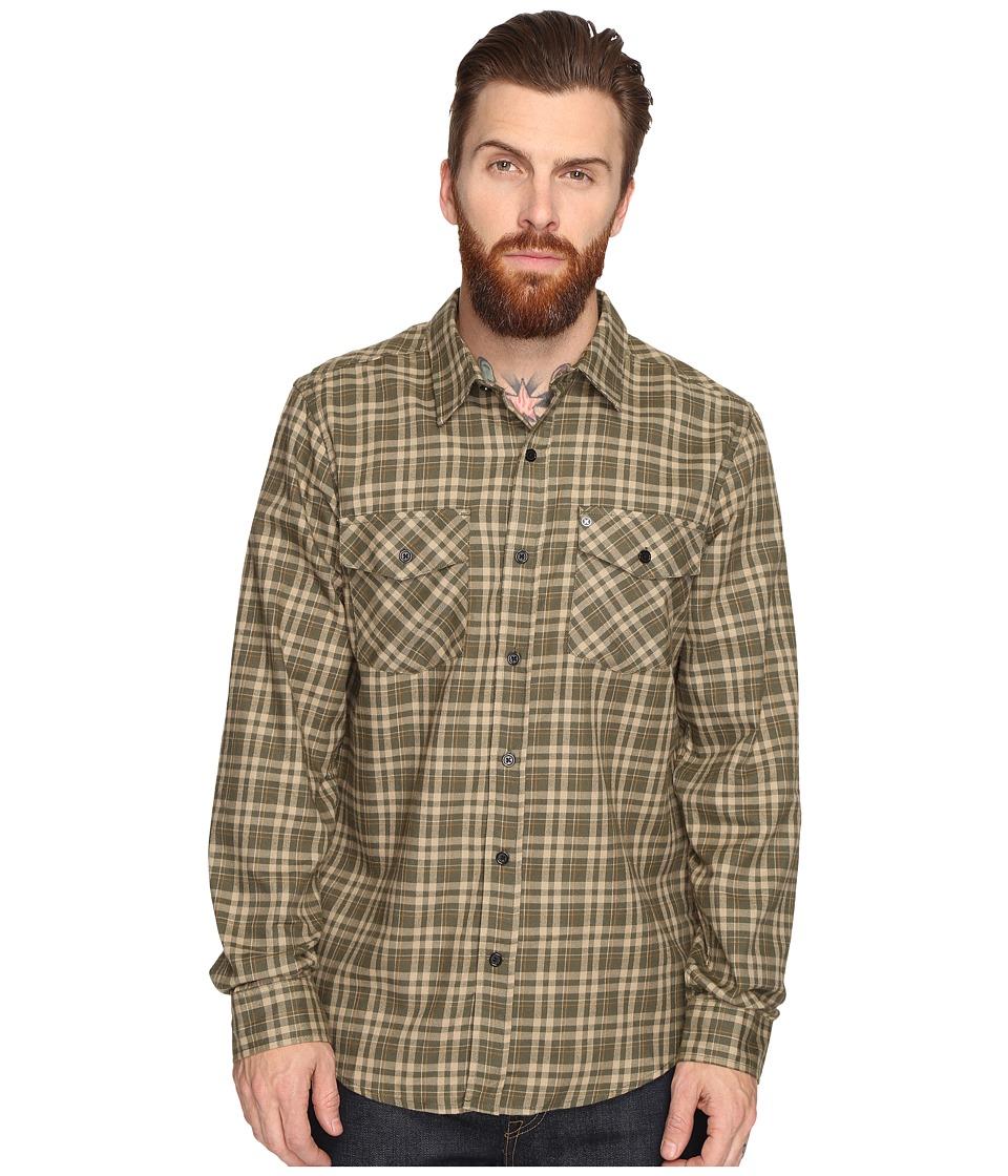 Hurley - Cascade Dri-Fit Flannel (Cargo Khaki) Men's Clothing