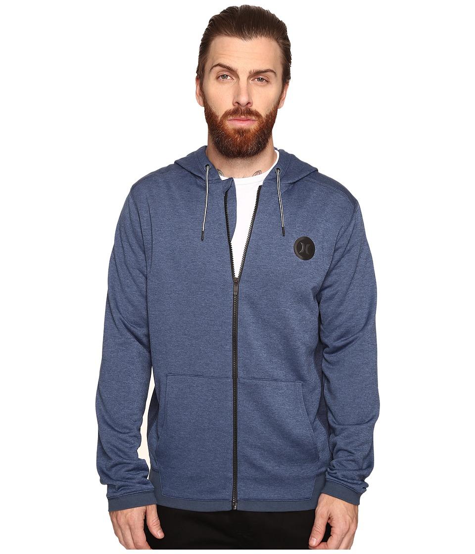 Hurley - Dri-Fit Disperse Zip (Squadron Blue) Men's Clothing