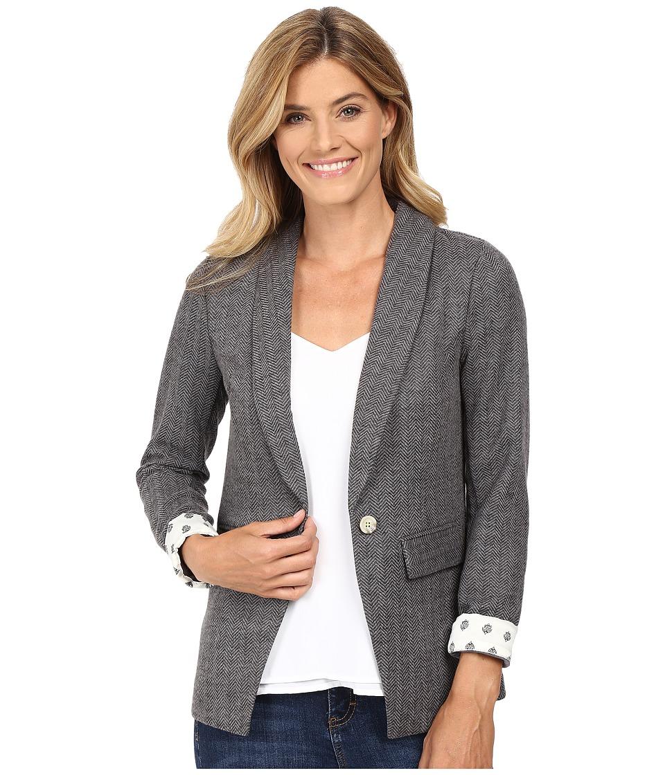 Hatley - Equestrian Blazer (Charcoal Herringbone) Women's Jacket