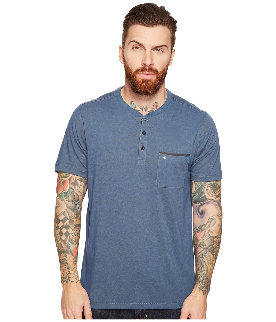 Hurley - Lagos Dri-Fit Lagos Henley (Squadron Blue) Men's Clothing