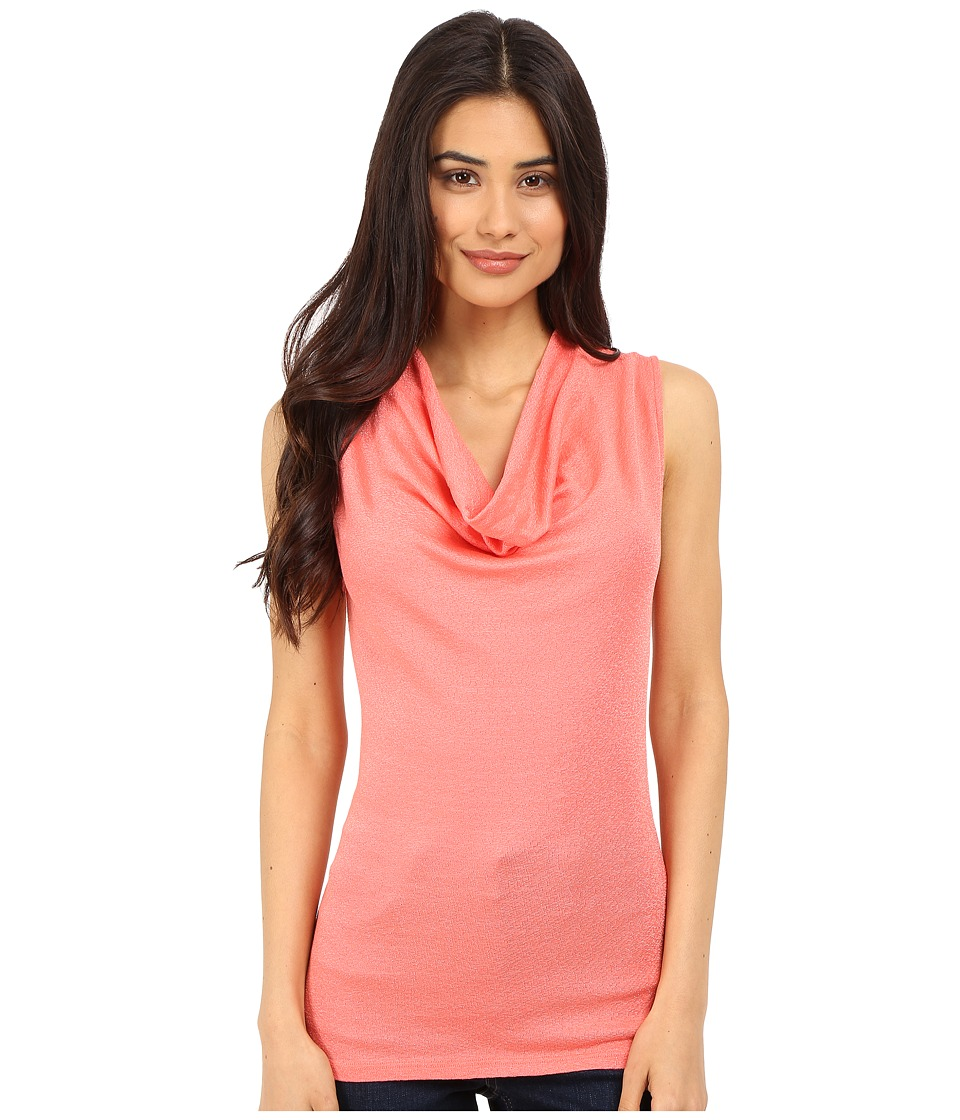 Michael Stars - Shine Sleeveless Drape Neck (Coral Sun) Women's Sleeveless