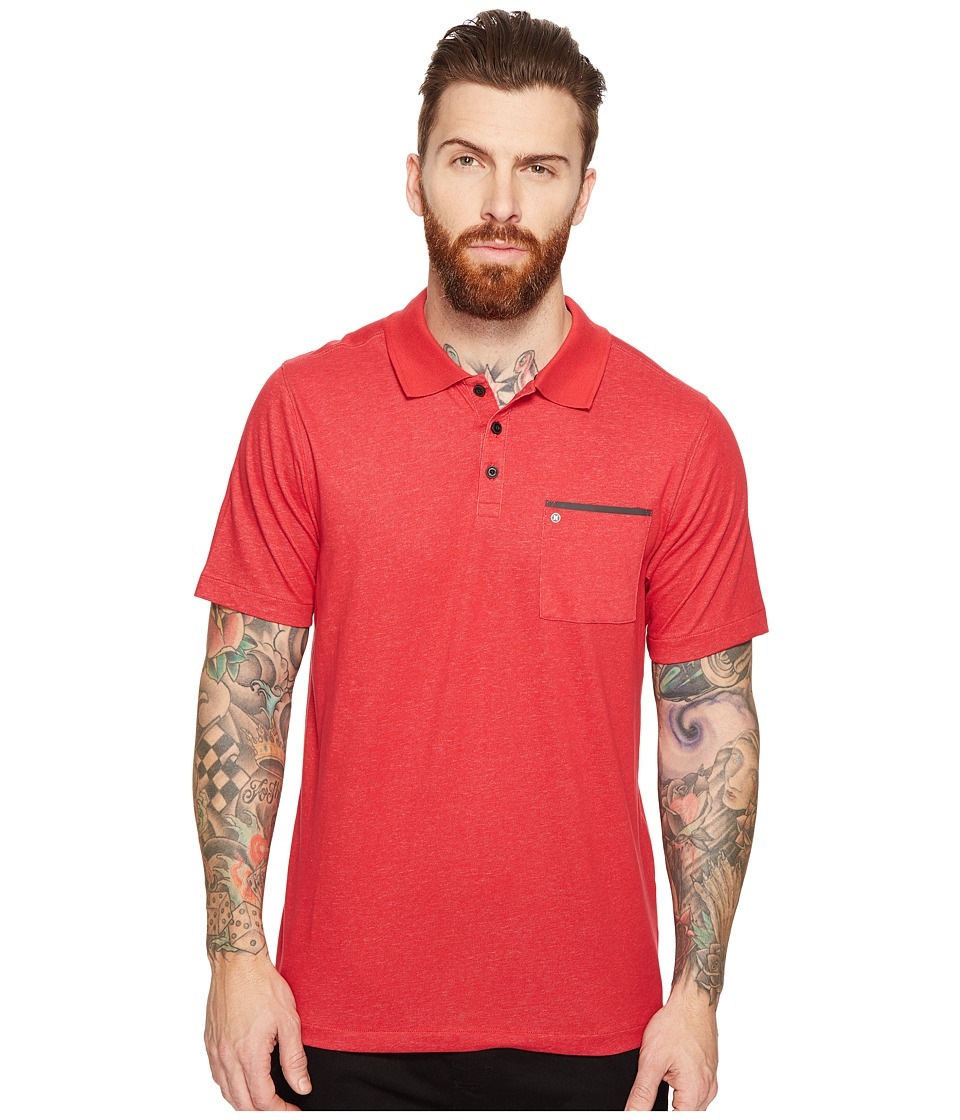 Hurley - Dri-Fit Lagos Polo (Gym Red) Men's Clothing