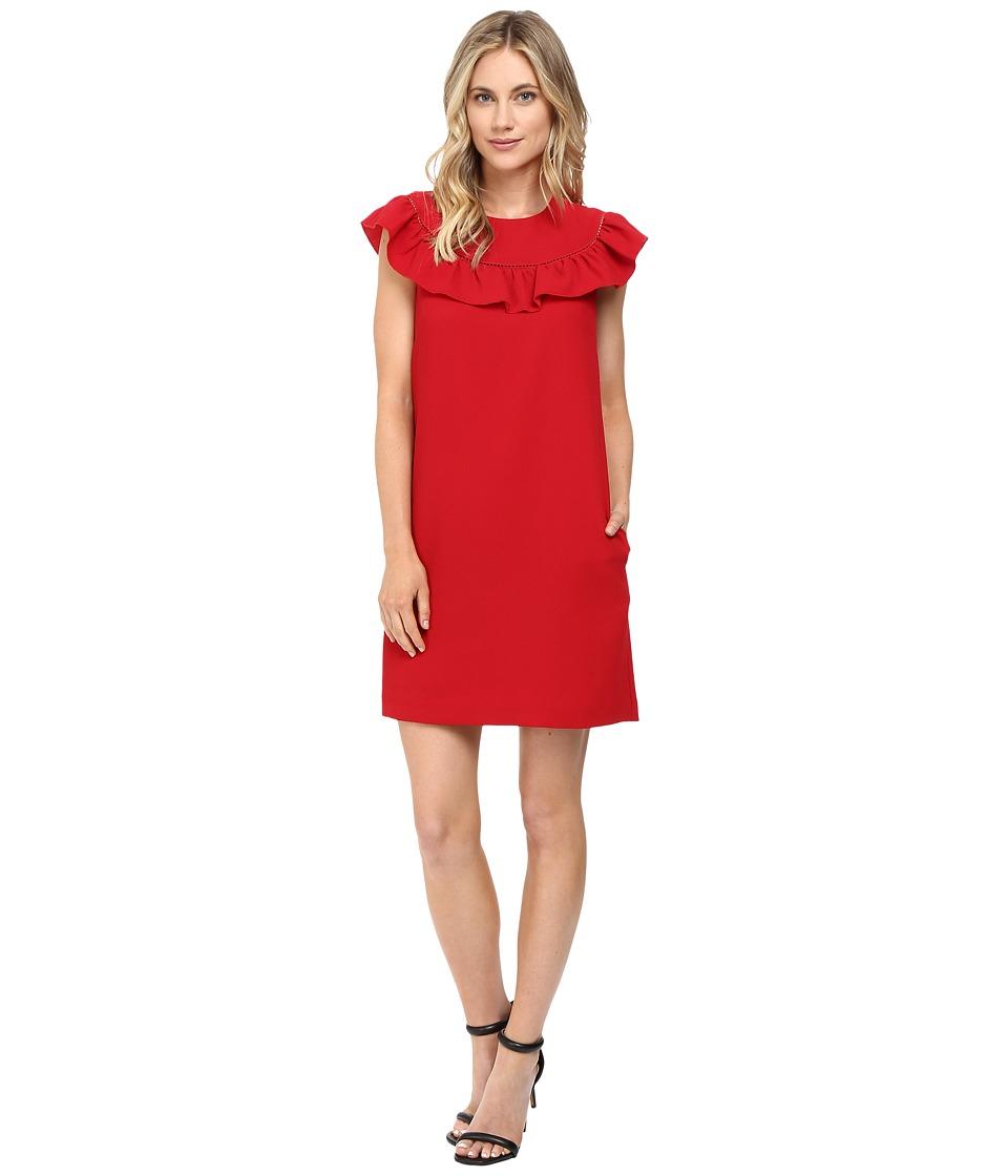 Trina Turk Ruffle Dress (Ruby Rose) Women