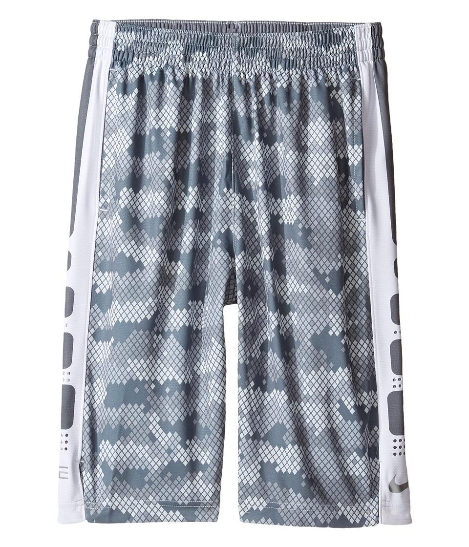 Nike Kids - Elite Stripe Plus Shorts (Little Kids/Big Kids) (Cool Grey/Cool Grey/Matte Silver) Boy's Shorts