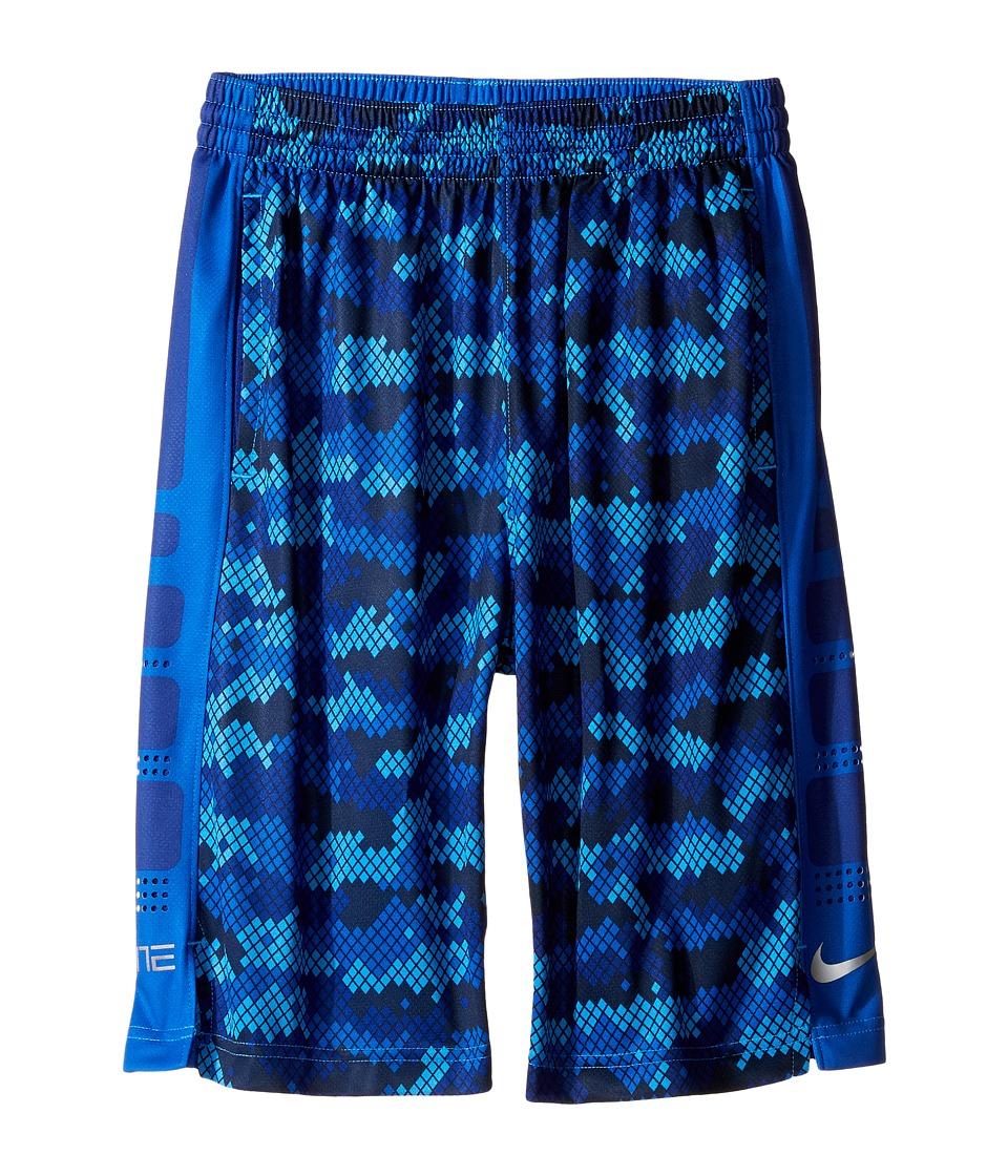 Nike Kids - Elite Stripe Plus Shorts (Little Kids/Big Kids) (Deep Royal Blue/Game Royal/Matte Silver) Boy's Shorts