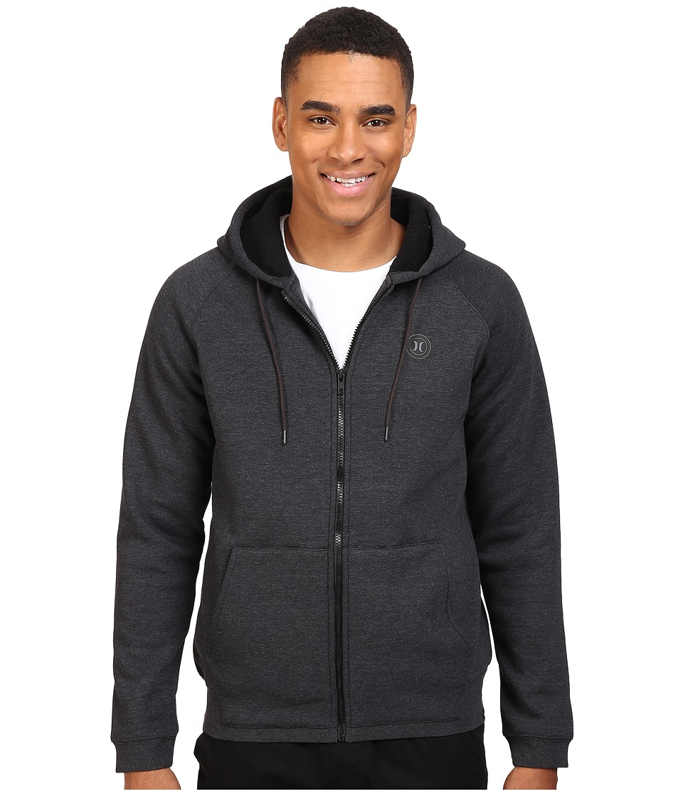 Hurley - Mammoth DWR Sherpa Lined Zip (Black Heather) Men's Clothing