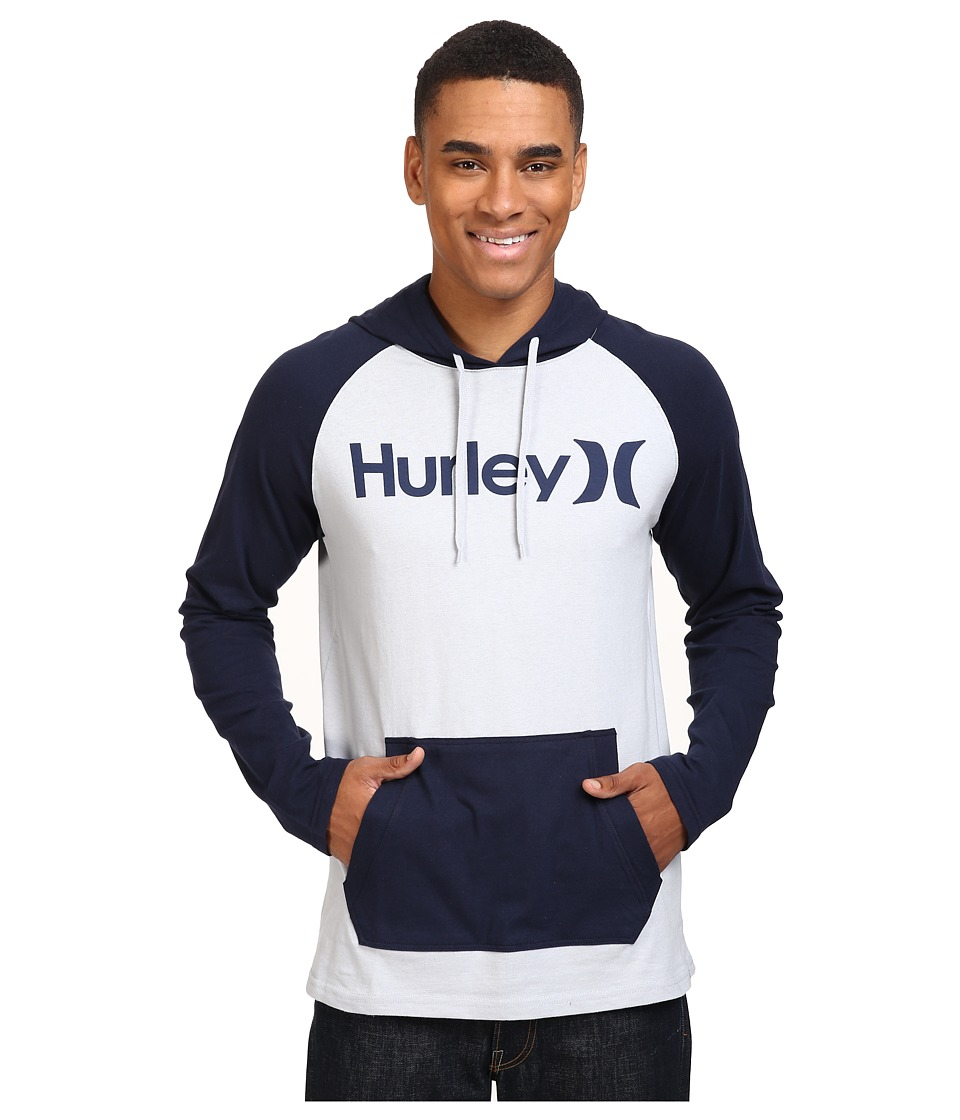 Hurley - One Only Raglan Jersey (Wolf Grey/Obsidian) Men's Clothing