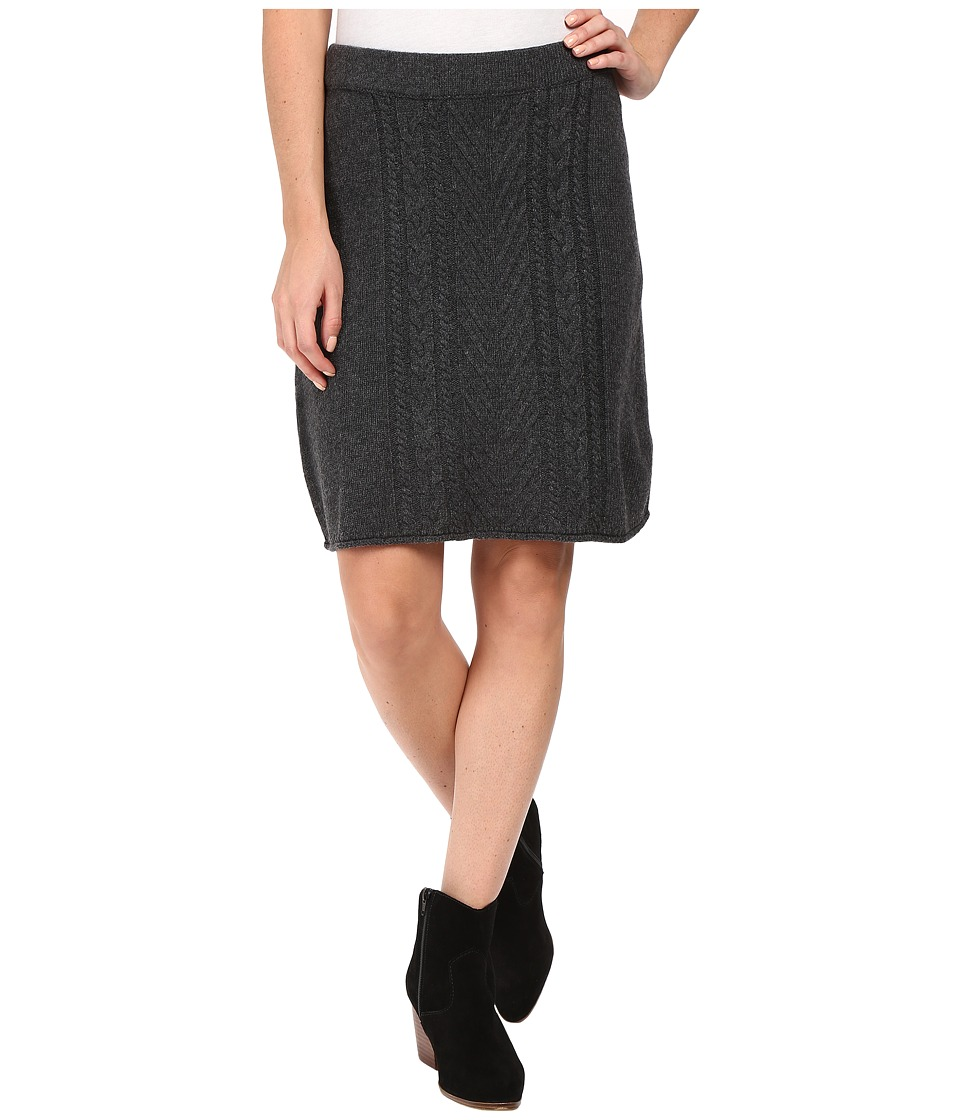 Hatley - A-Line Cable Knit Skirt (Grey) Women's Skirt