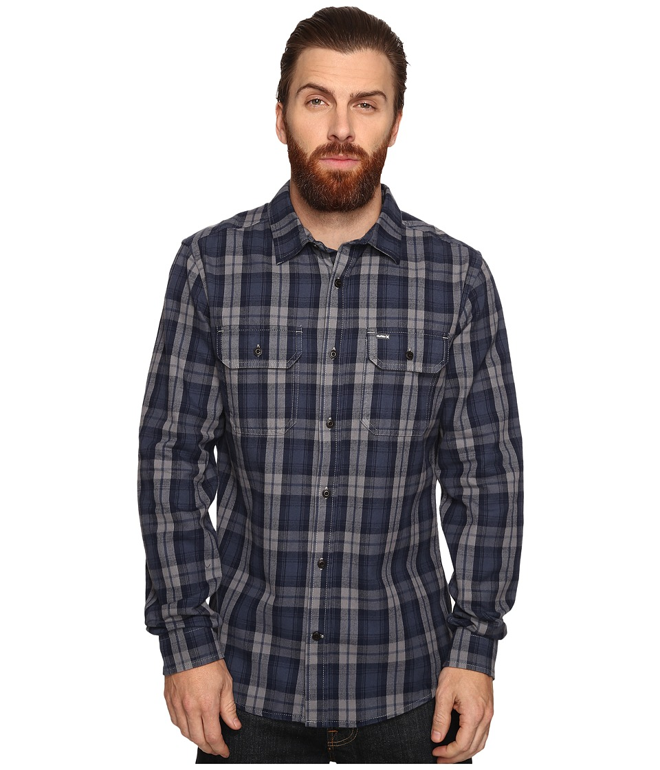 Hurley - Unite Yarn-Dyed Flannel (Squadron Blue) Men's Clothing