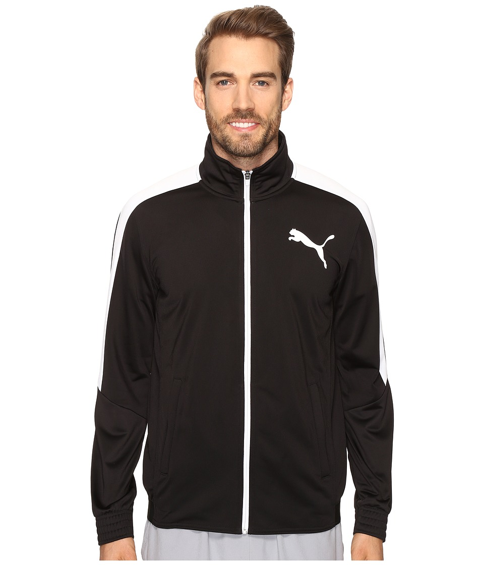 PUMA - Contrast Jacket (Puma Black/Puma White) Men's Coat