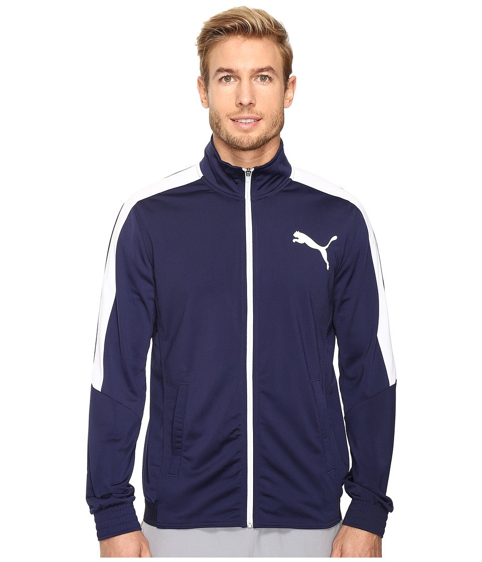 PUMA - Contrast Jacket (Peacoat/Puma White) Men's Coat