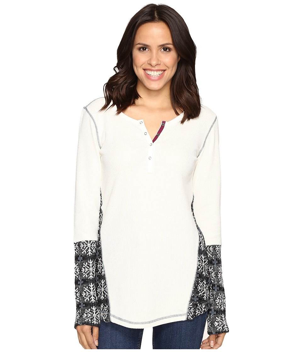 Hatley - Waffle Knit Henley (Cream) Women's Clothing