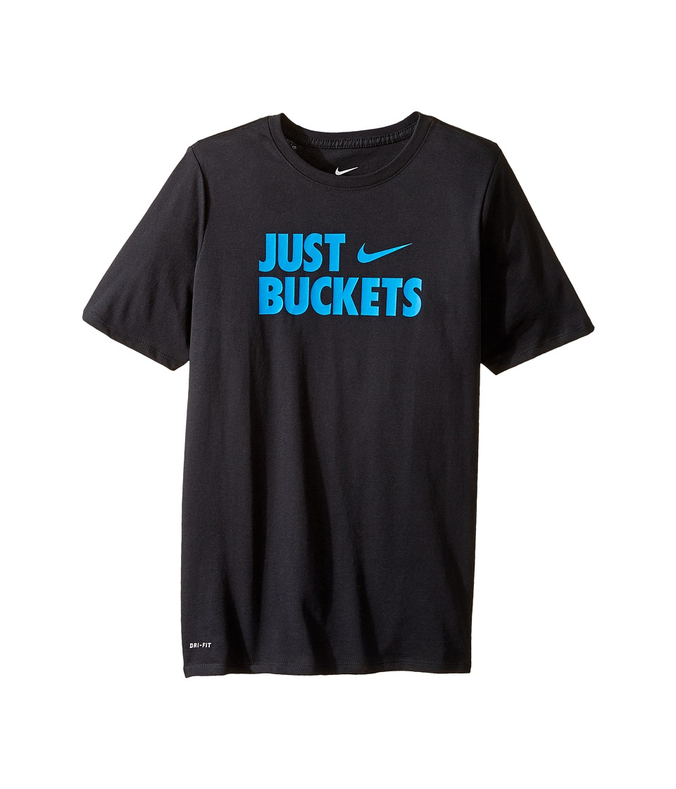Nike Kids - Just Buckets Tee (Little Kids/Big Kids) (Black) Boy's T Shirt