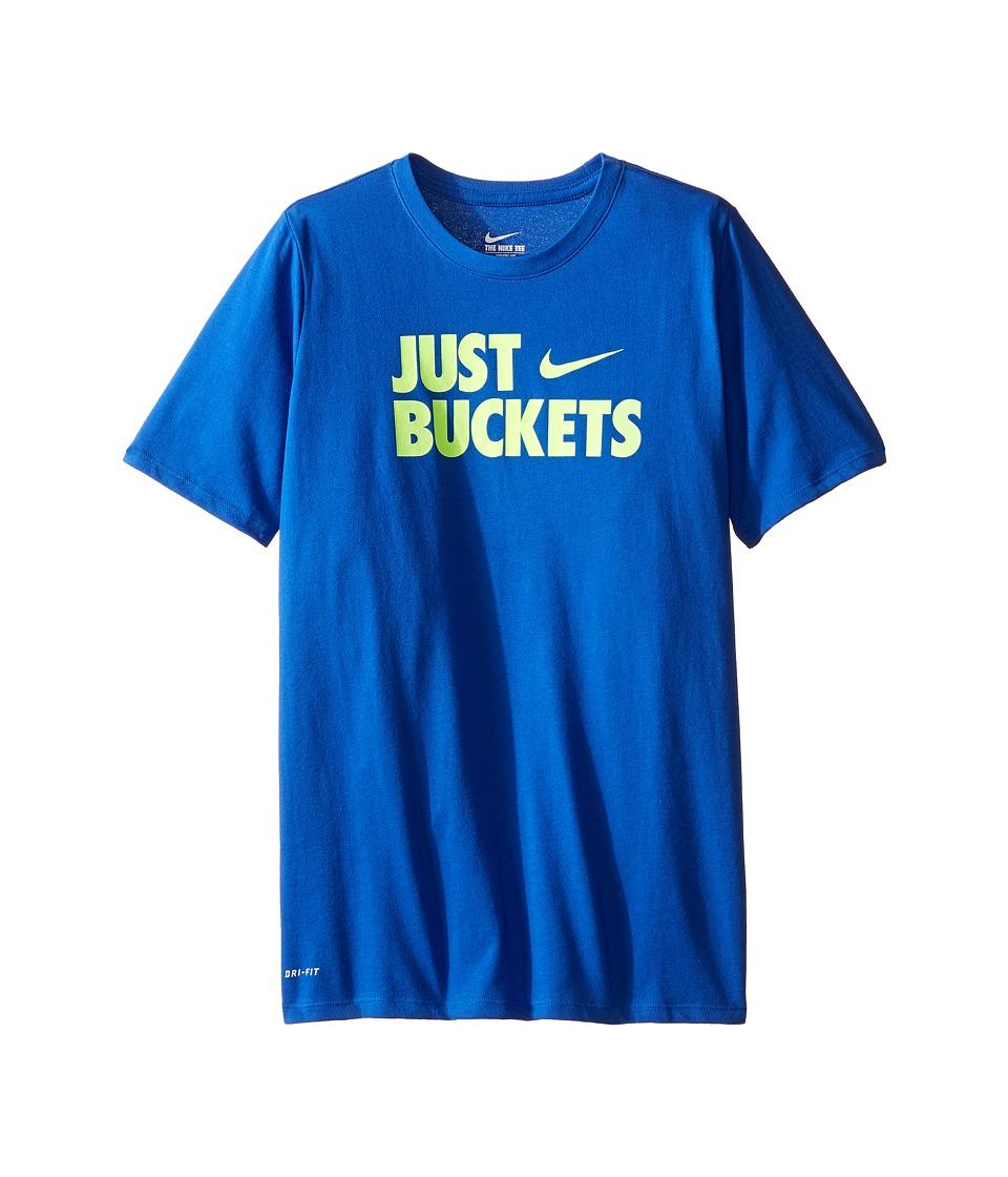 Nike Kids - Just Buckets Tee (Little Kids/Big Kids) (Game Royal) Boy's T Shirt