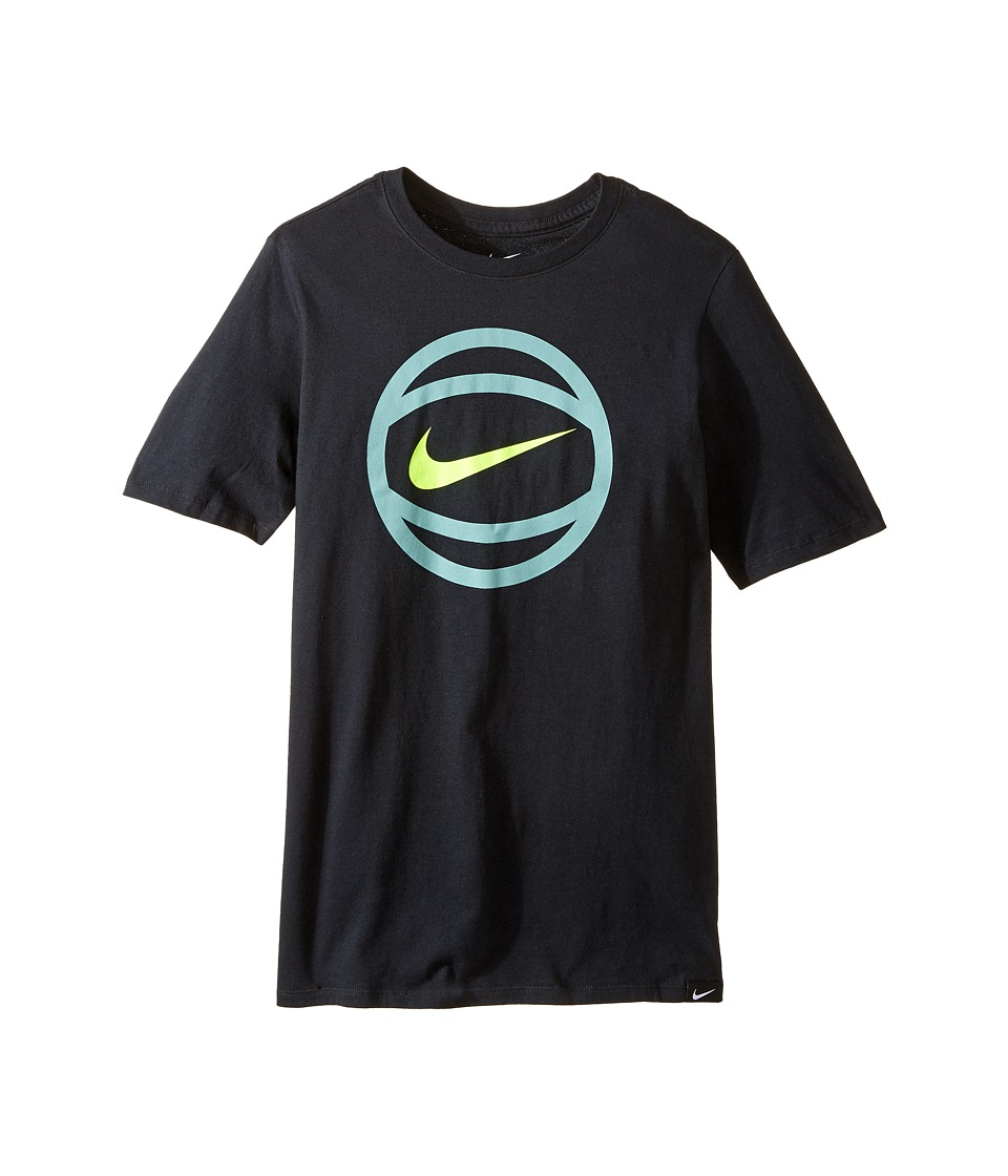 Nike Kids - Basketball T-Shirt (Little Kids/Big Kids) (Black) Boy's T Shirt