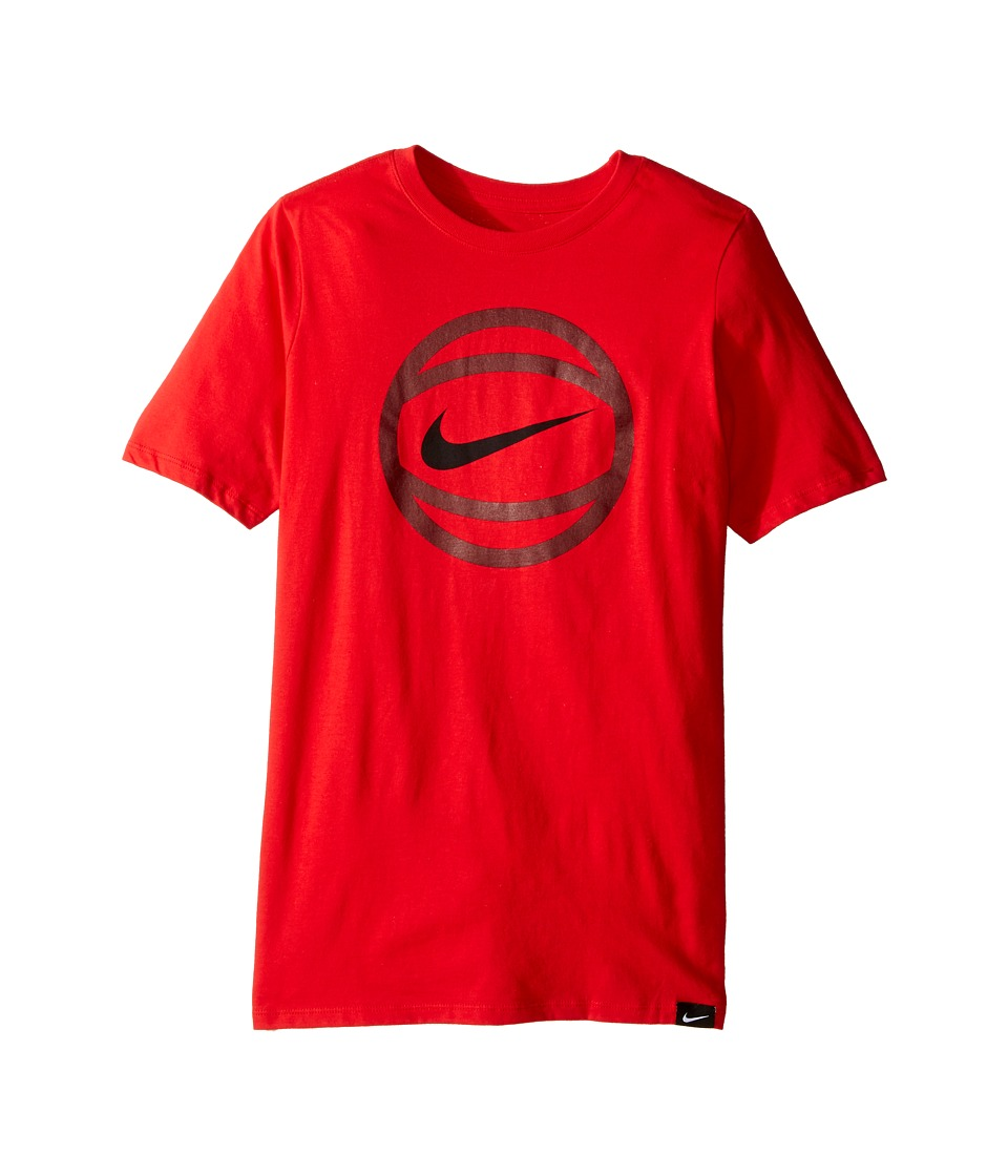 Nike Kids - Basketball T-Shirt (Little Kids/Big Kids) (University Red) Boy's T Shirt