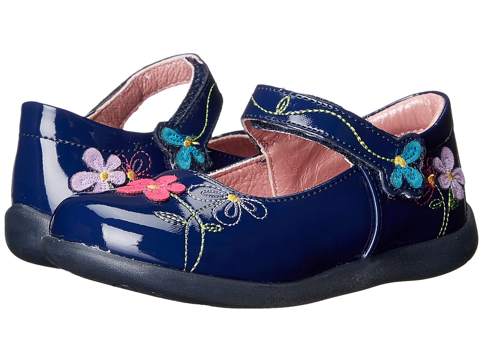 Kid Express - Primrose (Toddler/Little Kid) (Navy Patent) Girl's Shoes