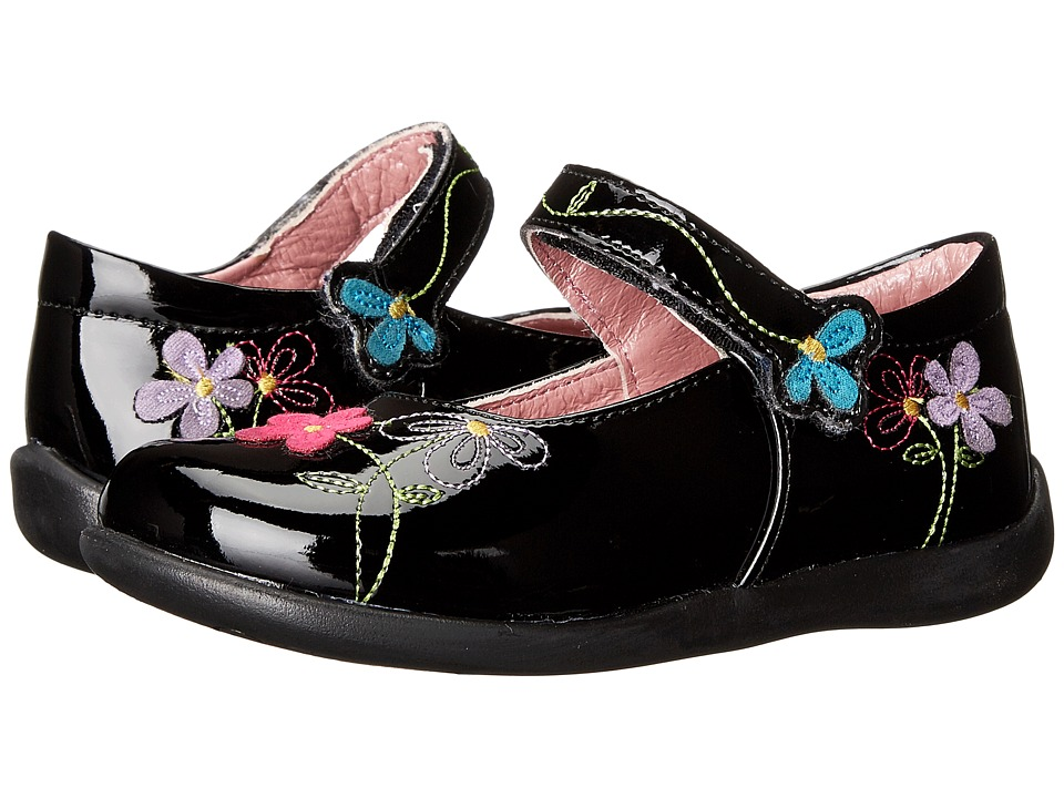 Kid Express - Primrose (Toddler/Little Kid) (Black Patent) Girl's Shoes