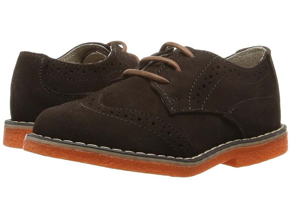 Kid Express - Derek (Toddler/Little Kid) (Dark Brown Suede) Boys Shoes