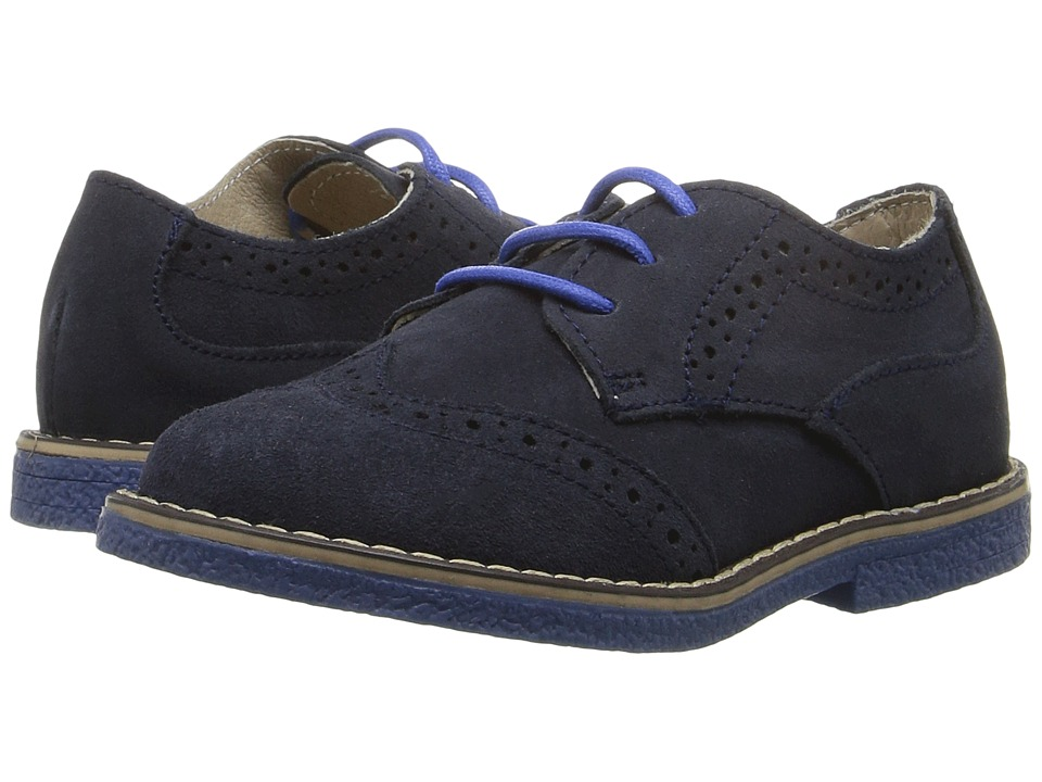 Kid Express - Derek (Toddler/Little Kid) (Navy Suede) Boys Shoes