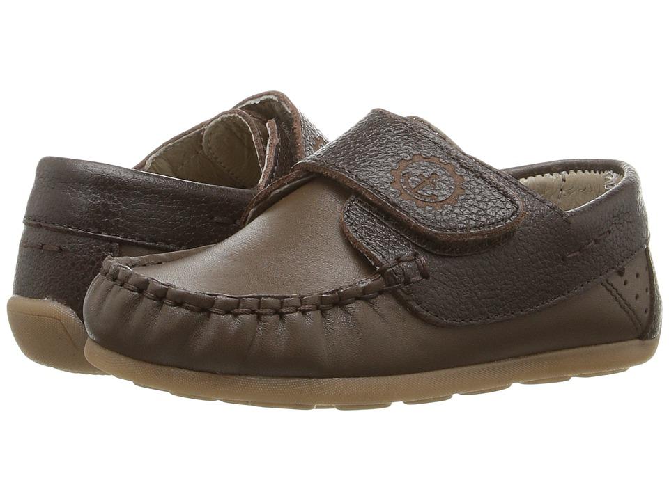 Kid Express - Brett (Toddler) (Dark Brown Combo) Boys Shoes