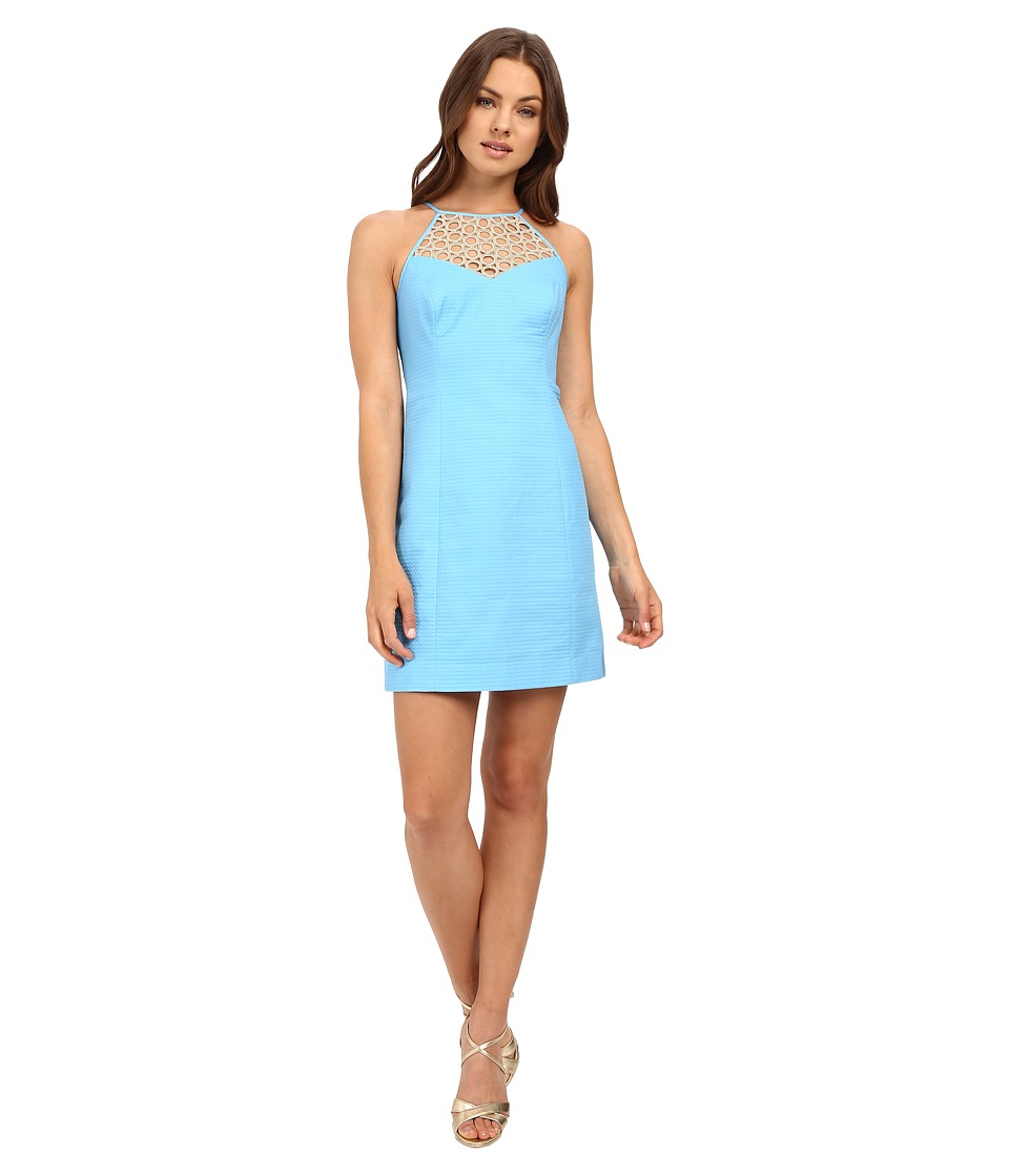 Lilly Pulitzer - Larina Shift Dress (Seaspray Blue) Women's Dress