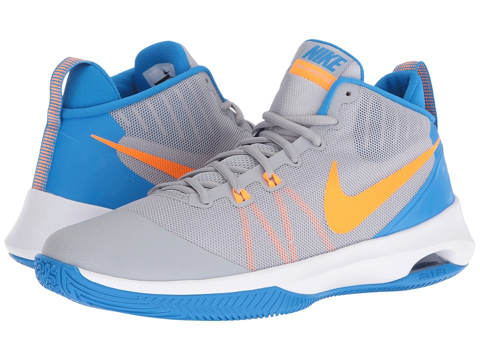 Nike - Air Versatile (Wolf Grey/Bright Citrus/Phantom Blue/White) Men's Basketball Shoes