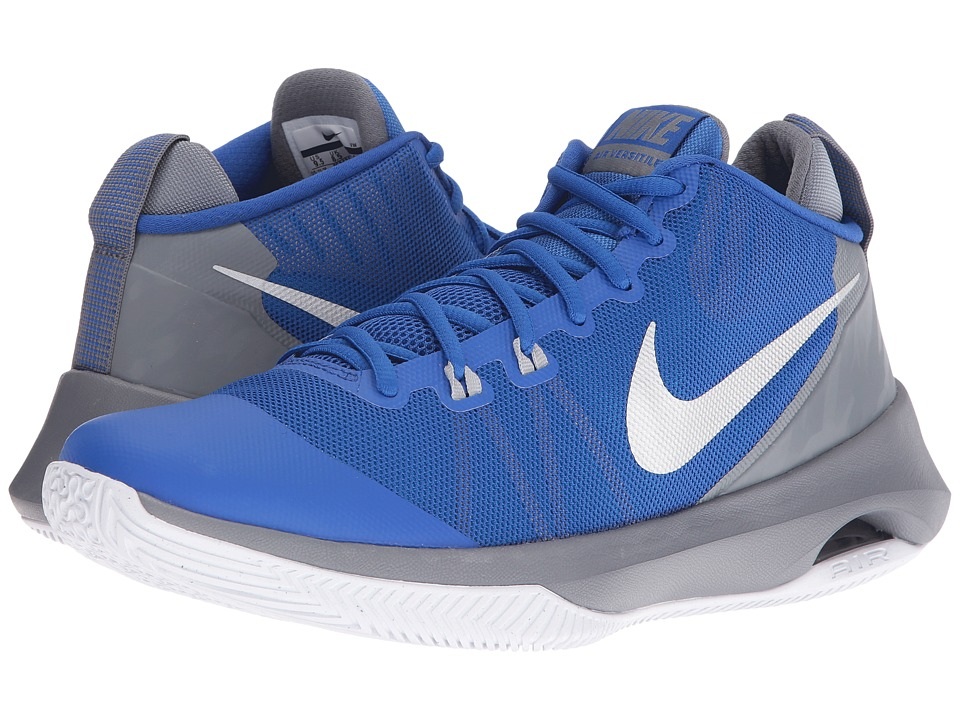 Nike - Air Versatile (Game Royal/Metallic Silver/Cool Grey/White) Men's Basketball Shoes