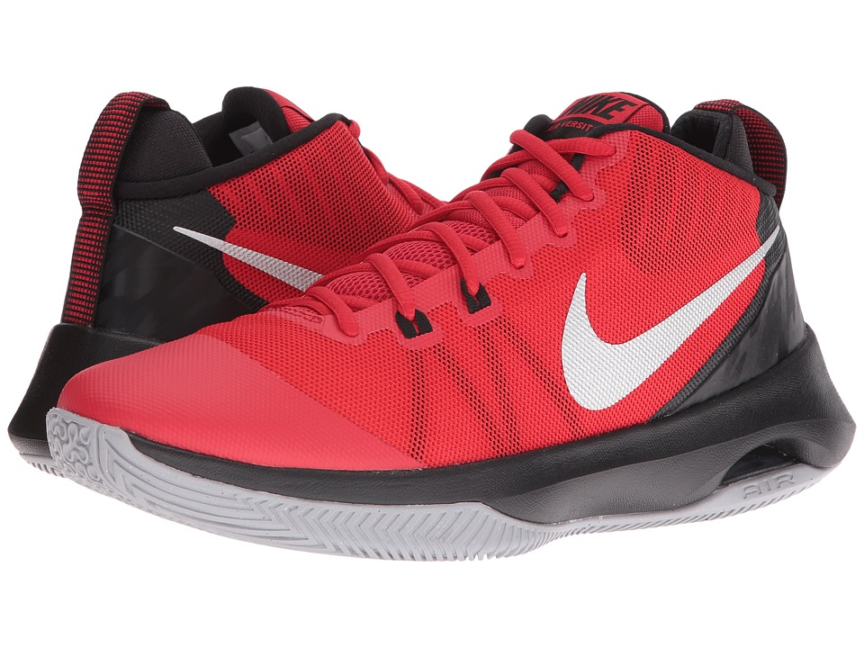 Nike - Air Versatile (University Red/Metallic Silver/Black/Wolf Grey) Men's Basketball Shoes