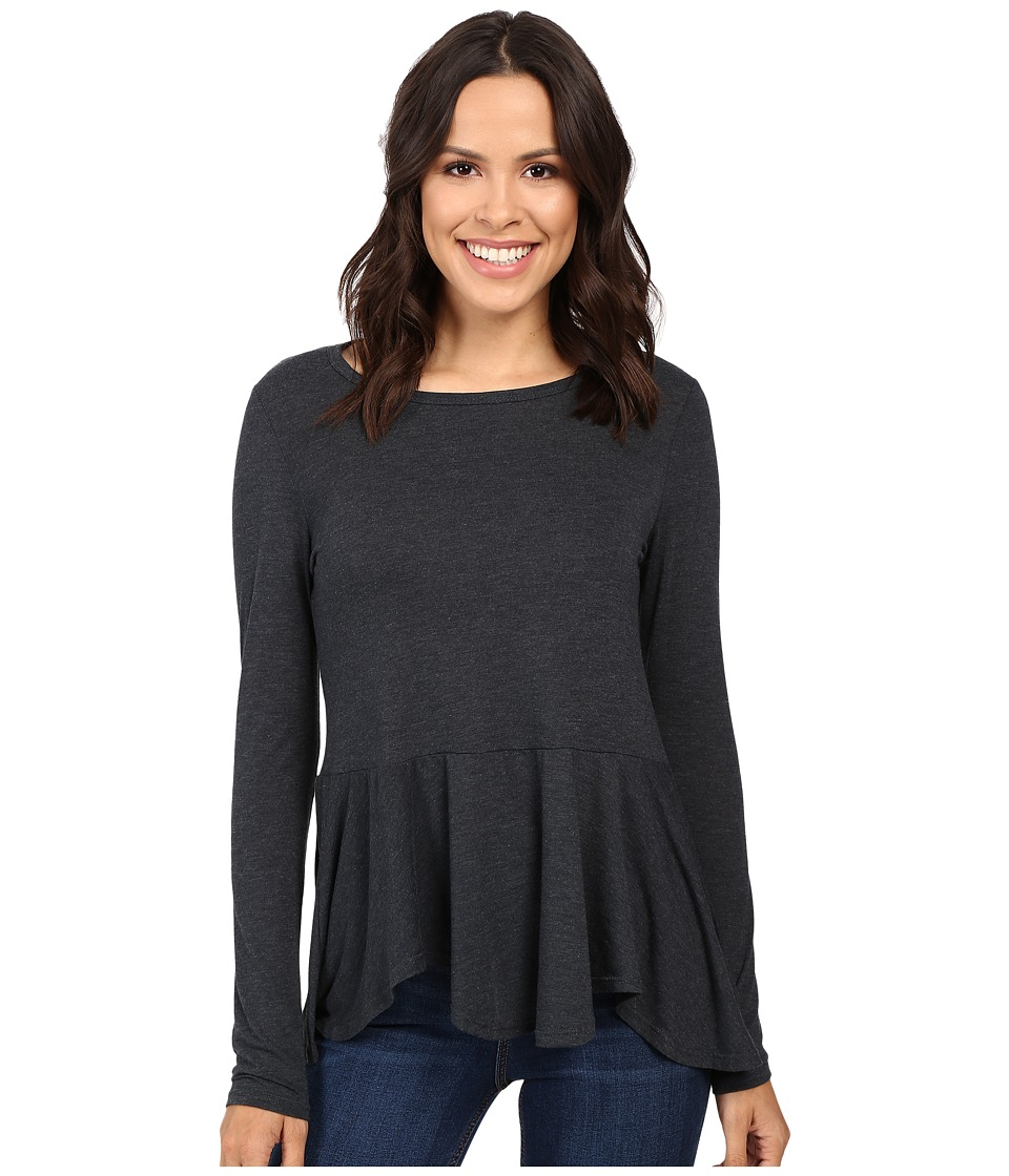 B Collection by Bobeau - Star Peplum Knit Top (Slate) Women's Blouse