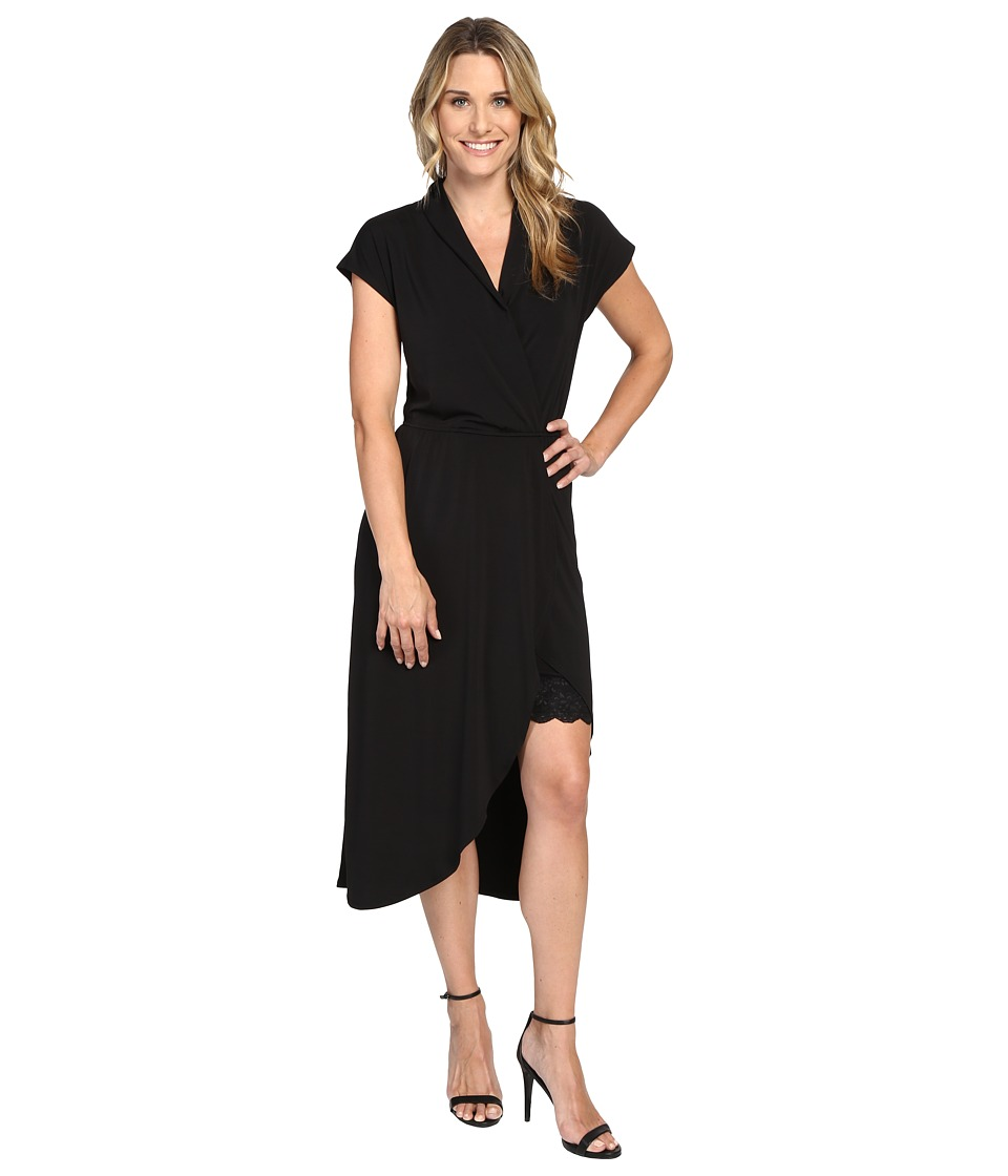 B Collection by Bobeau - Kalei Knit Wrap Dress (Black) Women's Dress