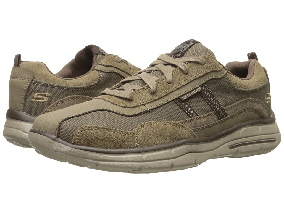 SKECHERS Relaxed Fit Glide Ellison (Light Brown) Men