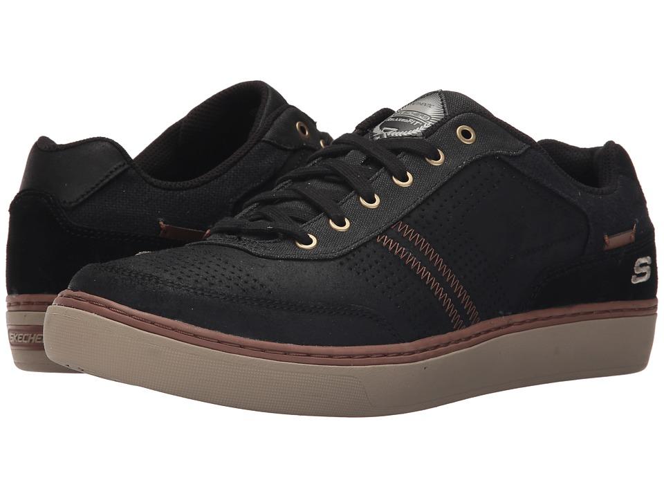 SKECHERS - Relaxed Fit Palen - Lomax (Black) Men's Shoes
