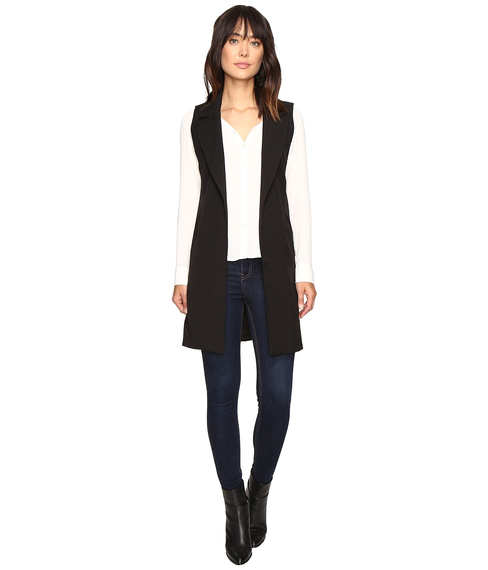 B Collection by Bobeau - Ilima Gabardine Waistcoat (Black) Women's Coat