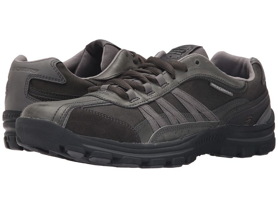 SKECHERS - Relaxed Fit Braver - Nostic (Charcoal) Men's Shoes