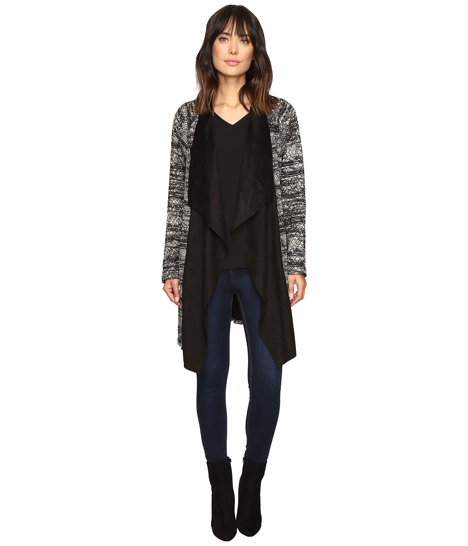 B Collection by Bobeau - Dries Textured Jacket w/ Faux Suede Neckline (Python) Women's Jacket