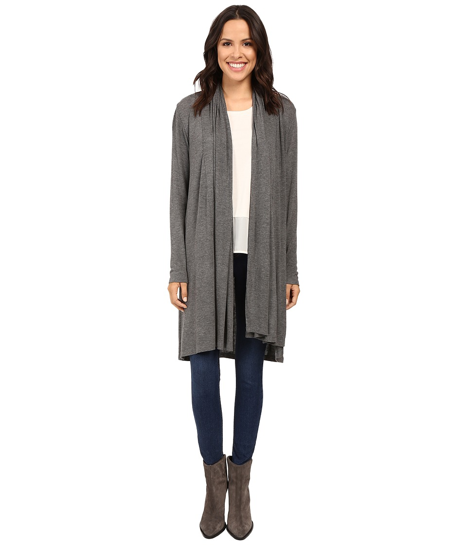 B Collection by Bobeau - Haider Knit Scarf Duster (Chacoal Grey) Women's Sweater