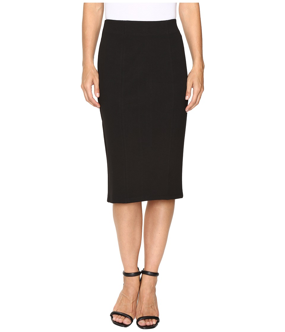 B Collection by Bobeau - Ricki Pencil Skirt with Velvet Pull (Black) Women's Skirt
