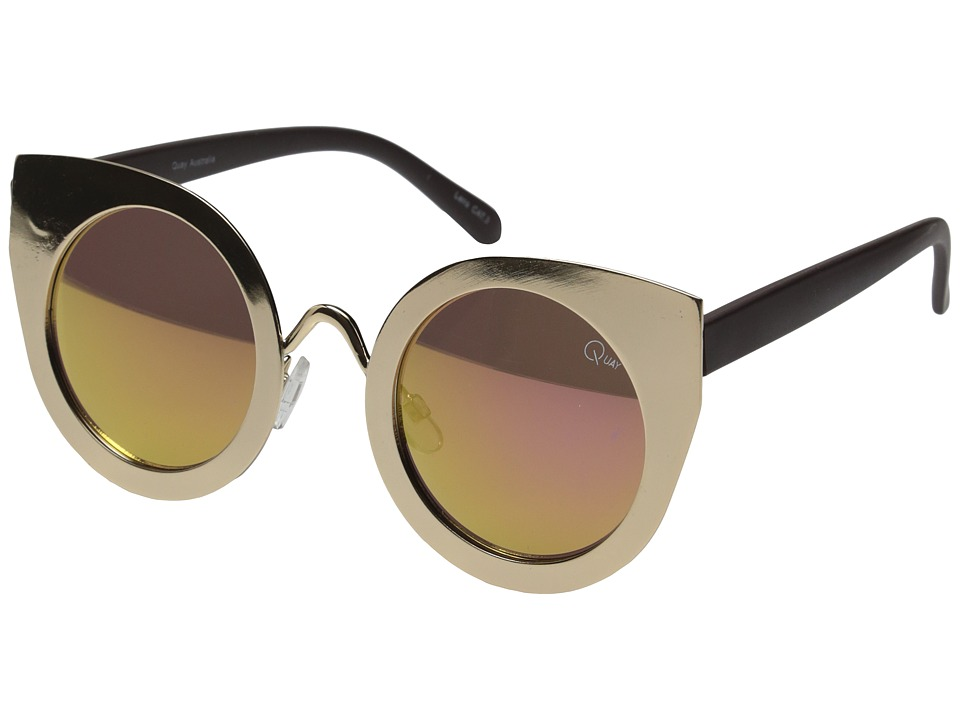 QUAY AUSTRALIA - Tainted Love (Gold/Pink Mirror) Fashion Sunglasses