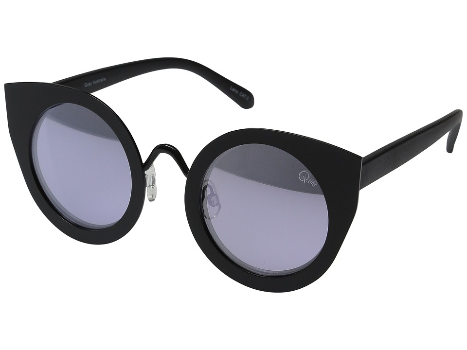 QUAY AUSTRALIA - Tainted Love (Black/Lilac Mirror) Fashion Sunglasses