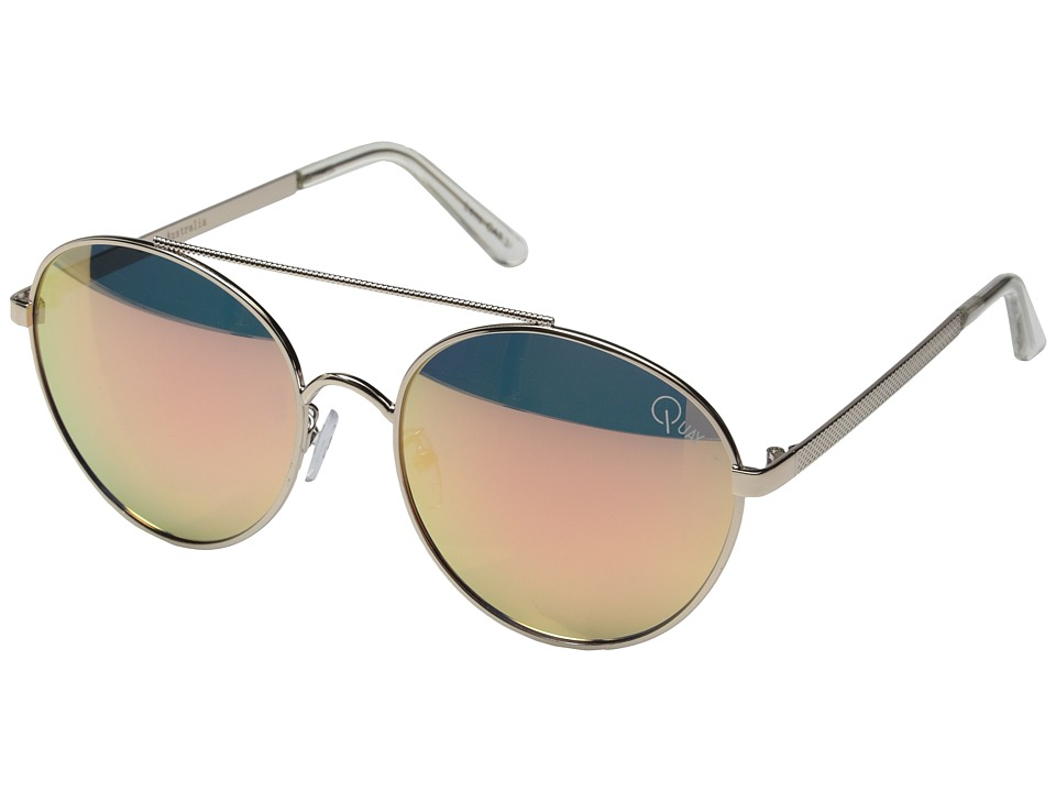 QUAY AUSTRALIA - Circus Life (Gold/Pink Mirror) Fashion Sunglasses
