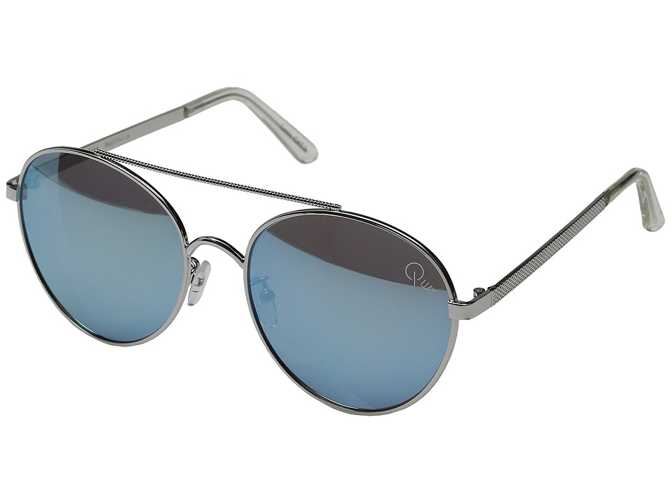 QUAY AUSTRALIA - Circus Life (Silver/Blue Mirror) Fashion Sunglasses