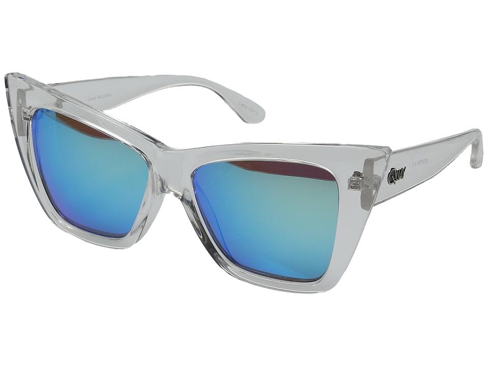 QUAY AUSTRALIA - Vesper (Clear/Blue Mirror) Fashion Sunglasses