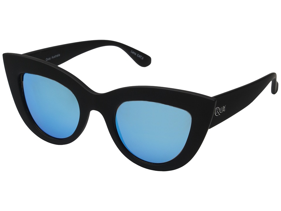 QUAY AUSTRALIA - Kitti (Black/Blue Mirror) Fashion Sunglasses