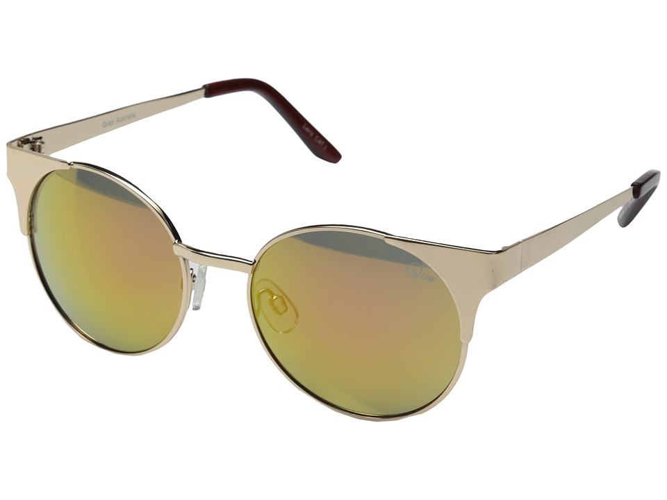QUAY AUSTRALIA - Asha (Gold/Pink Mirror) Fashion Sunglasses