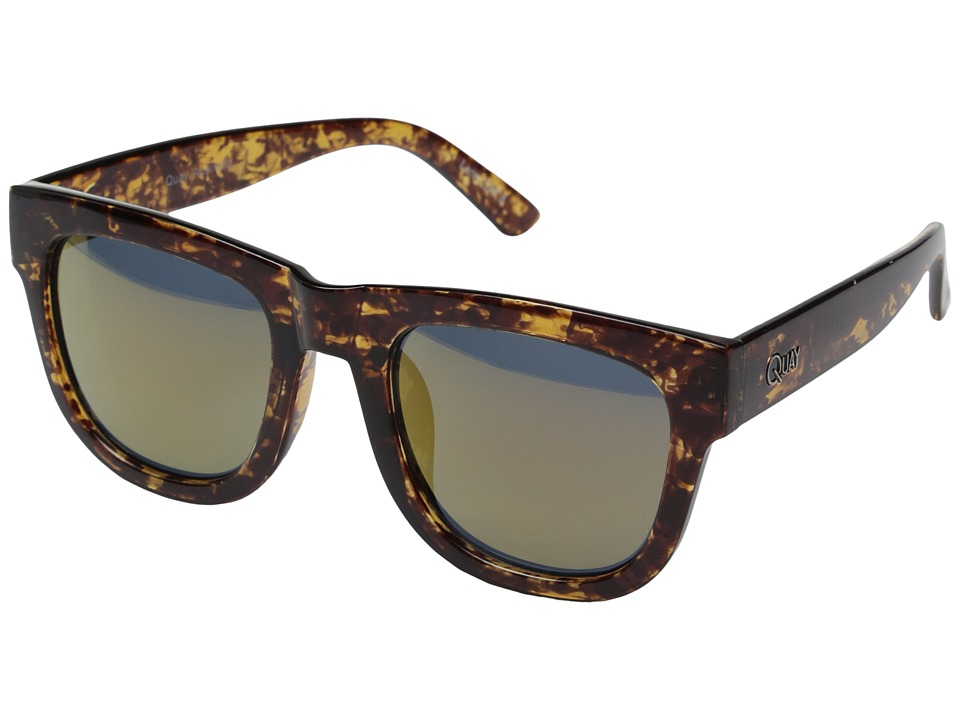 QUAY AUSTRALIA - Maximus (Tort/Gold Mirror) Fashion Sunglasses