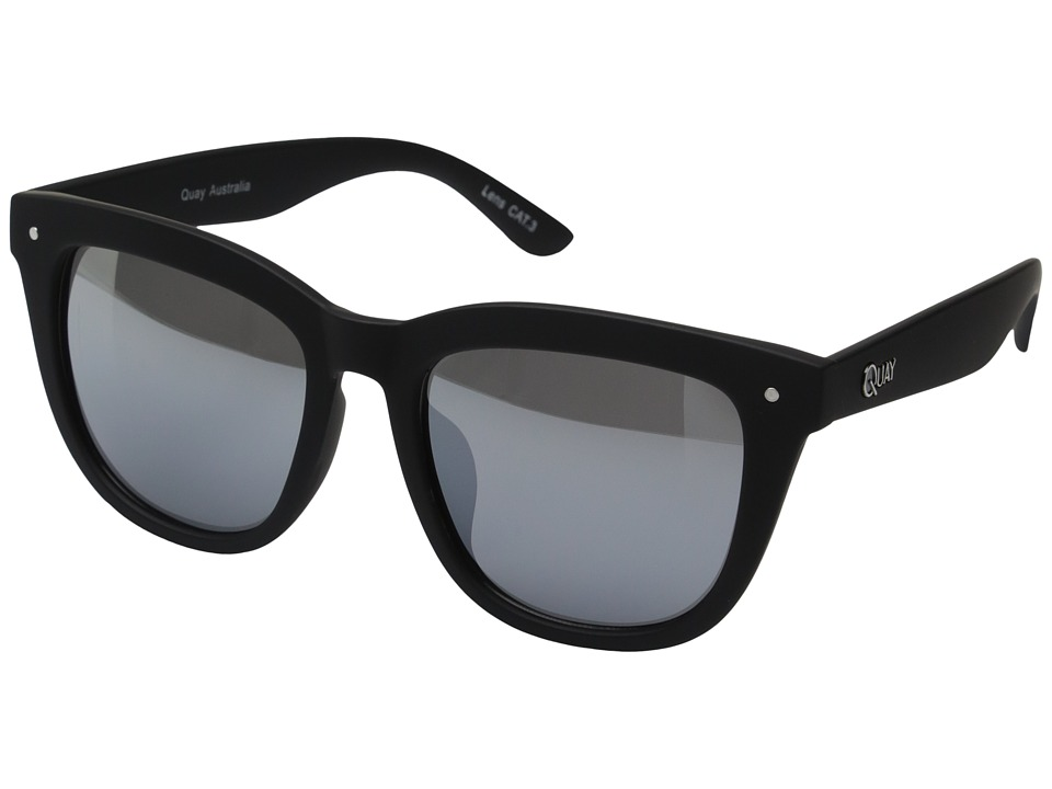 QUAY AUSTRALIA - Zeus (Black/Silver Mirror) Fashion Sunglasses