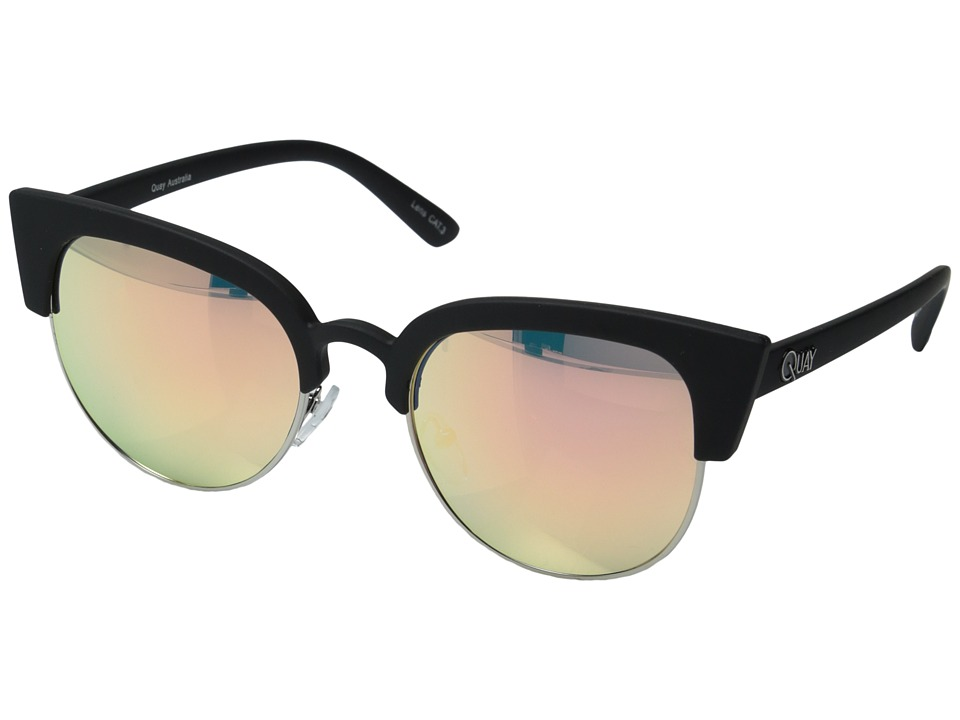 QUAY AUSTRALIA - Avalon (Black/Pink Mirror) Fashion Sunglasses