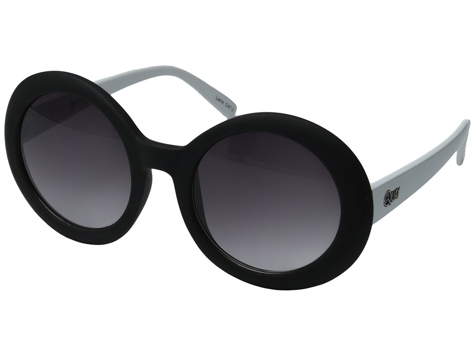QUAY AUSTRALIA - Outside Squad (Black/White/Smoke Lens) Fashion Sunglasses