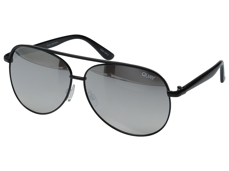 QUAY AUSTRALIA - Macaw (Black/Silver Mirror) Fashion Sunglasses